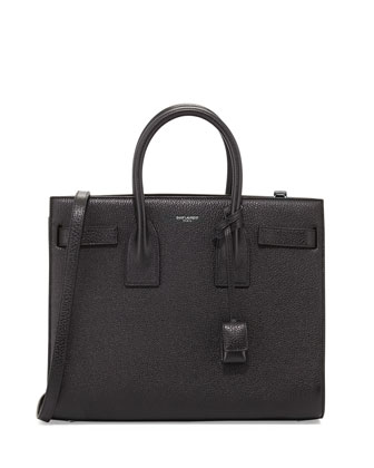 Sac de Jour Grained Carryall Bag, Black
