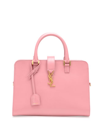 Monogram Small Zip-Around Satchel Bag, Pink