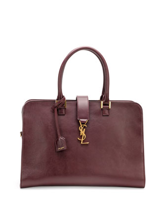 Monogram Small Zip-Around Satchel Bag, Bordeaux