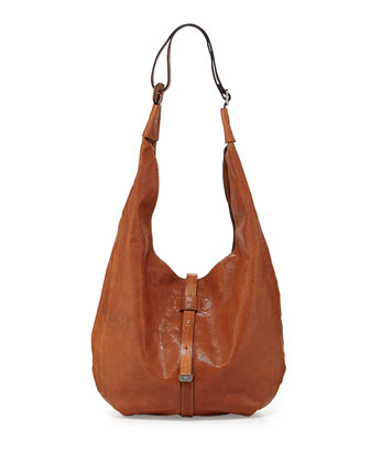 City Casual Hobo Bag, Caramel