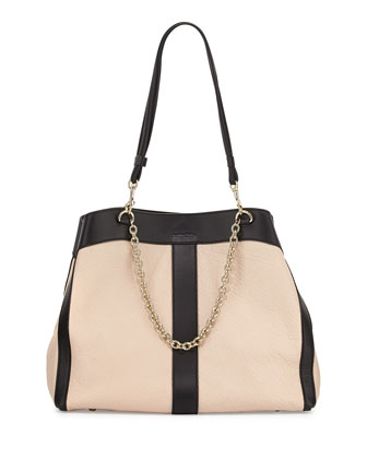 Beki Medium Chain Tote Bag, Pearl