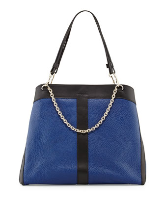 Beki Large Chain Tote Bag, Ultramarine