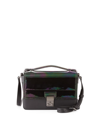 Pashli Mini Flap Messenger Bag, Black