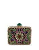 Jeweled Cabochon Rectangle Clutch Bag