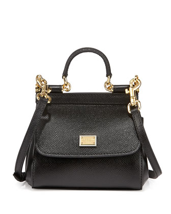 Miss Sicily Mini Crossbody Bag, Black