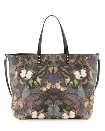 Patchwork Butterfly Easy Tote Bag, Multi