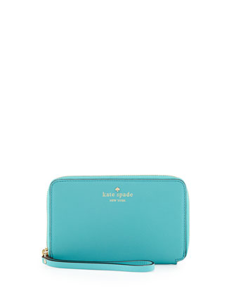 cherry lane laurie wristlet wallet, tropic blue