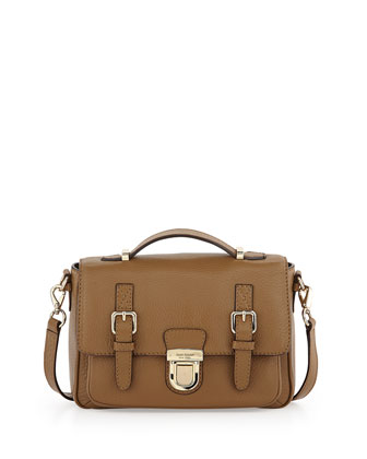 lola avenue lia crossbody satchel, brown sugar