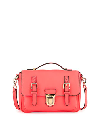 lola avenue lia crossbody satchel, surprise coral