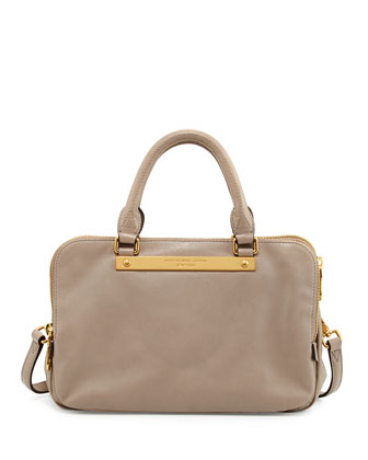 Goodbye Columbus Sylvie Satchel Bag, Cement