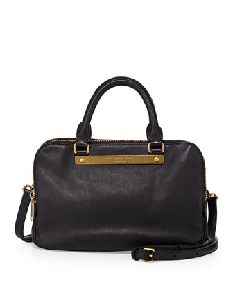 Goodbye Columbus Sylvie Satchel Bag, Black