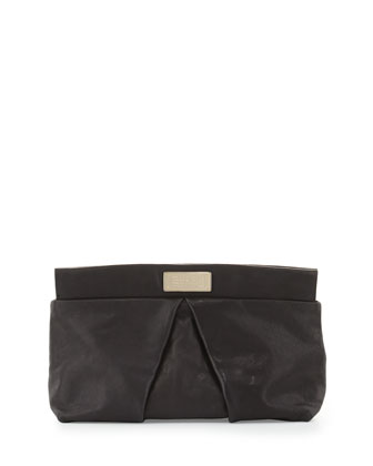 MARChive Leather Clutch Bag, Black