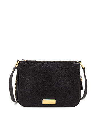 Washed Up Zip Crossbody Bag, Black