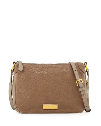 Washed Up Zip Crossbody Bag, Cement