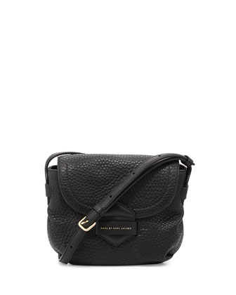 Half Pipe Pebbled Crossbody Bag, Black
