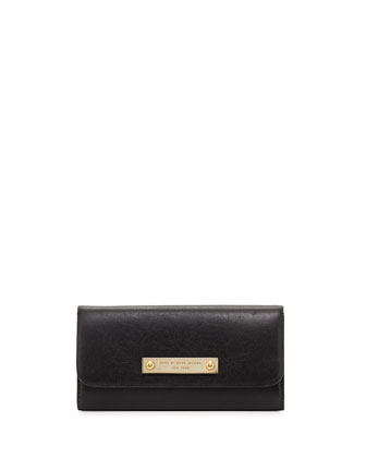 Goodbye Columbus Continental Wallet, Black