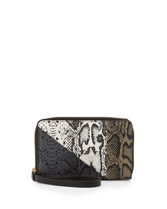 Sophisticato Snake-Print Leather Wallet