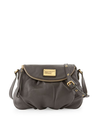 Classic Q Natasha Crossbody Bag, Faded Aluminum