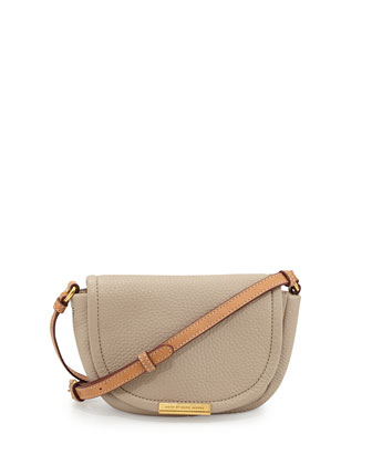 Softy Saddle Crossbody Bag, Creme