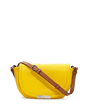 Softy Saddle Crossbody Bag, Grapefruit Zest