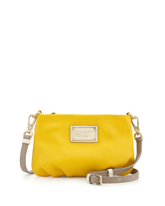 Classic Q Percy Crossbody Bag, Grapefruit Zest