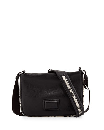 Classic Q Percy Snake-Print-Trim Crossbody Bag, Infra Red Multi