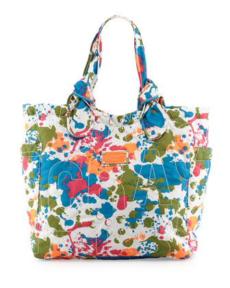 Pretty Nylon Medium Splatter Tote Bag