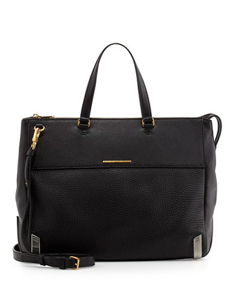 Shelter Island Jaime Tote Bag, Black