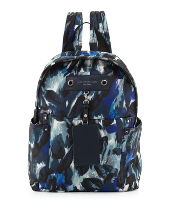 Pretty Nylon Painterly Backpack, Blue Multi