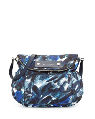 Pretty Nylon Painterly Natasha Bag, Blue Multi