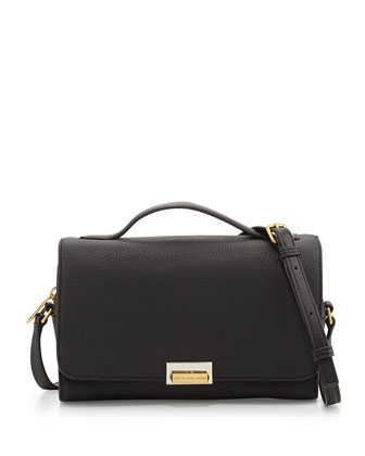 In the Grain Nahee Leather Satchel Bag, Black