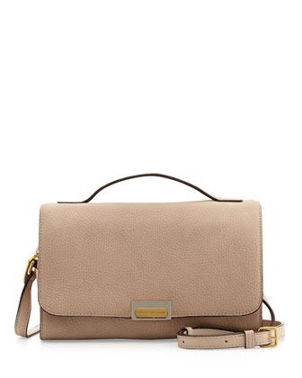 In the Grain Nahee Leather Satchel Bag, Tracker Tan