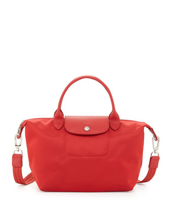 Le Pliage Shoulder Tote with Strap, Poppy