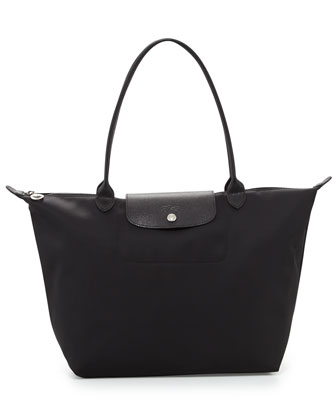 Le Pliage Shoulder Tote Bag, Black