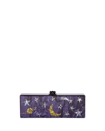 Flavia Solar System Clutch Bag, Purple Multi