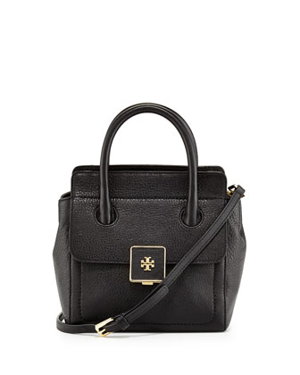 Clara Small Crossbody Tote Bag, Black