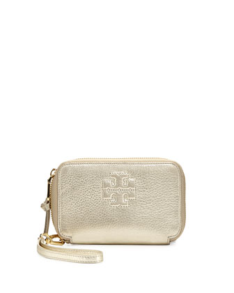Thea Multitask Smart Phone Wristlet Wallet, Light Gold