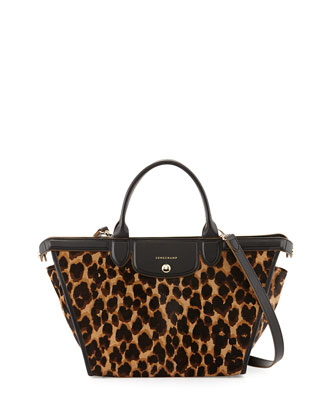 Le Pliage Heritage Luxe Top-Handle Bag, Camel