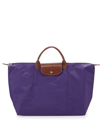 Le Pliage Large Travel Tote Bag, Amethyst