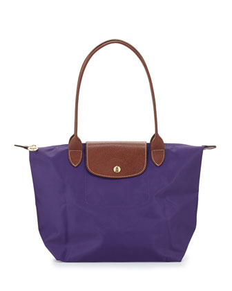 Le Pliage Medium Shoulder Tote Bag, Amethyst