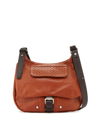 Balzane Roots Leather Crossbody Bag, Cognac