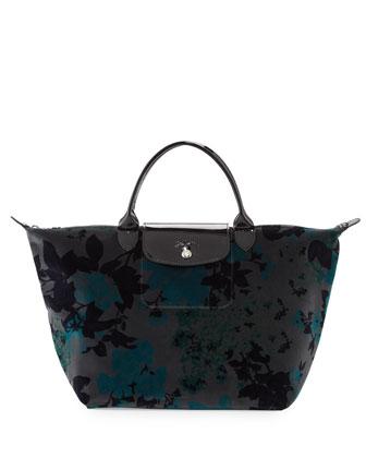 Fleurs De Palace Velvet Handbag, Iron