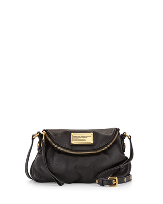 Classic Q Natasha Mini Crossbody Bag, Black