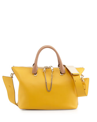 Baylee Medium Shoulder Bag, Beige/Yellow