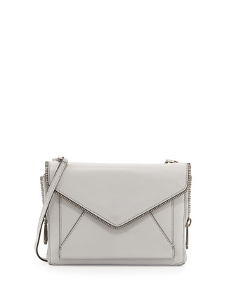 Marlowe Mini Envelope Crossbody Bag, Pale Gray