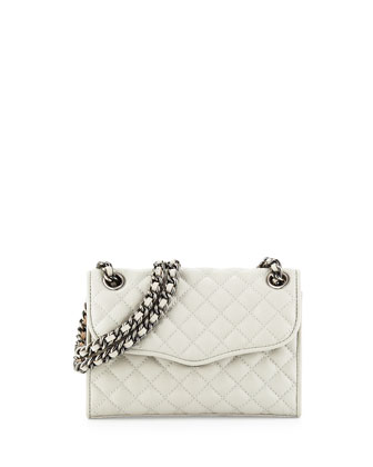 Quilted Affair Mini Shoulder Bag, Pale Gray