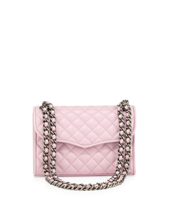 Quilted Affair Mini Shoulder Bag, Dusty Pink