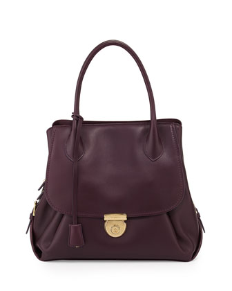 Fiamma Ornament-Lock Tote Bag, Plum