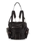 Marti Soft-Wash Lambskin Backpack, Black