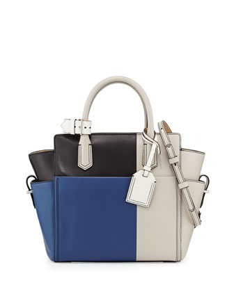 Atlantique Mini Tote Bag, Blue Multi